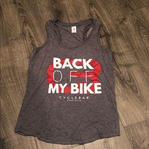 Tops - Cyclebar NWOT Back Off My Bike Tank Size M
